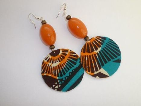 African Fabric And Beaded Dangle Earrings | art contemporain africain | Scoop.it