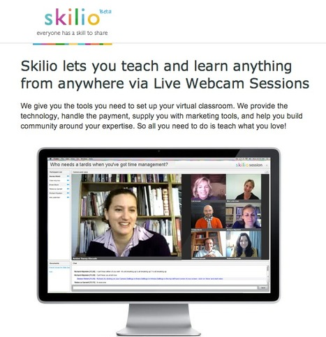Skilio - teach and learn via Webcam sessions | Collaboration tools and news | Scoop.it