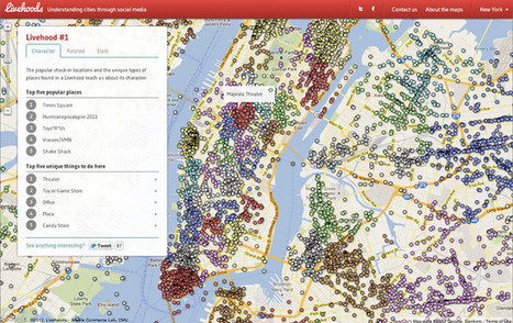 A Map Of Your City's Invisible Neighborhoods, According To Foursquare | Estetyka prezentacji danych | Scoop.it