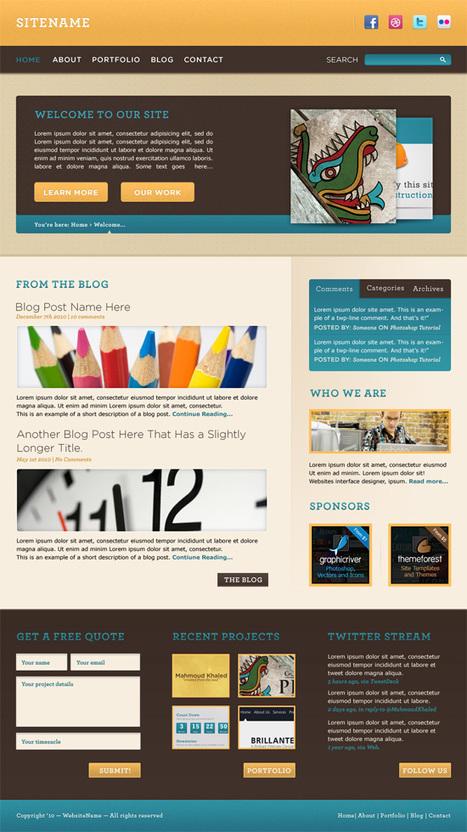 25 Excellent Photoshop Web Design Layout Tutorials | Basics and principles for a good  Web Design | Scoop.it
