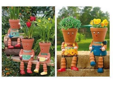 DIY: Clay Pot Flower People | Amazing Blades Landscaping | Scoop.it
