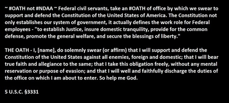 ~ #OATH not #NDAA ~ Federal civil servants, take an #OATH of office | Criminal Justice in America | Scoop.it