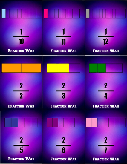 Fraction War Games | Math File Folder Games | The Room | Scoop.it