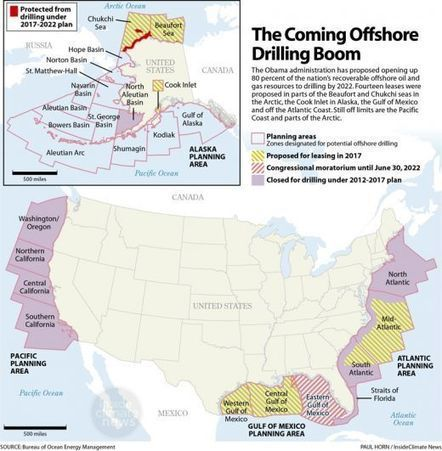 Map: Obama's Offshore Drilling Plan | InsideClimate News | Environment | Scoop.it