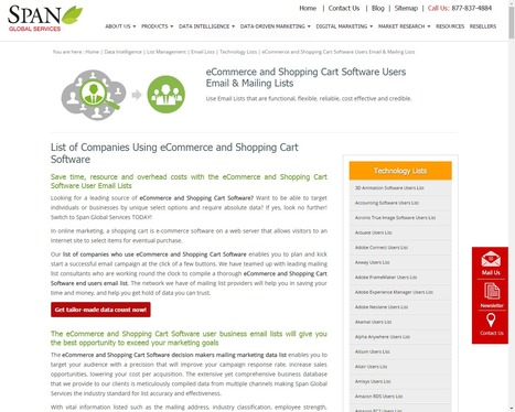 Buy Shopping Cart Software Users List from Span Global Services | Span Global Services | Scoop.it