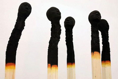 Art installation illustrates the harsh impact of burnout syndrome: Matchstick men by German artist Wolfgang Stiller | What Surrounds You | Scoop.it