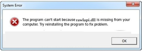 How To Fix Rawlapi.dll is Missing / Not Found Error Message in Windows - PC Error Repair Solutions n Guide   Fix Windows Error   Scoop.it