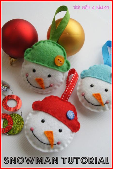 8 Felt Christmas Ornaments   Fiber Arts   Scoop.it