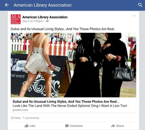 The American Library Association Lost Control Of Their Facebook Page This Weekend | TechCrunch | Library Corner | Scoop.it