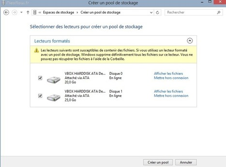 Les Espaces de stockage de Windows 8 | Time to Learn | Scoop.it