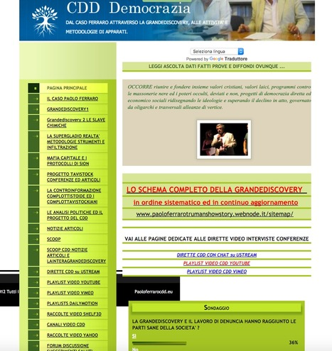 Mappa del sito :: Paolo Ferraro CDD | Paolo Ferraro magistrato CDD | Scoop.it