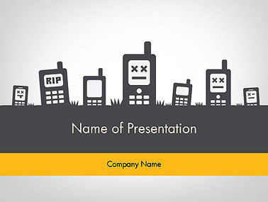Mobiles Silhouettes Presentation Template | Presentation Templates | Scoop.it