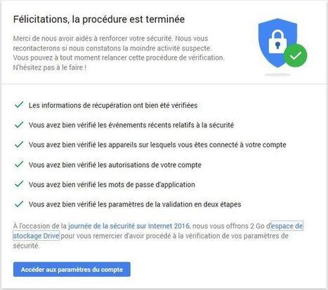 Google ajoute 2 Go sur Drive si vous vérifiez la sécurité de votre compte - Numerama - Tech - Numerama | François MAGNAN  Formateur Consultant | Scoop.it