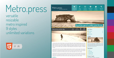 Metro.press - Expressive WordPress Theme | Wordpress Themes | Scoop.it