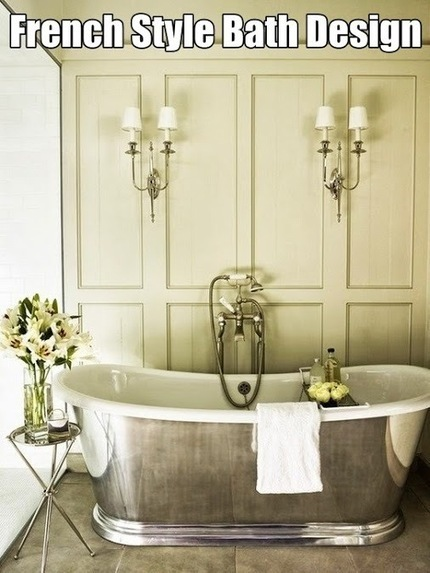 French Style Bath Design | All About Bathroom Remodel | Scoop.it