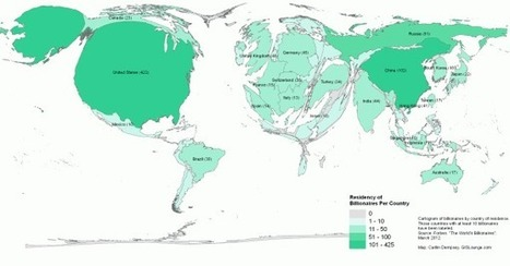 Geography of Billionaires: Mapping Nationalities and Residency | Gaea Matrix | Scoop.it