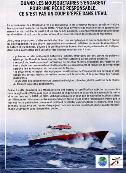 Non, Les Mousquetaires ne sont pas des pêcheurs responsables !  | agro-media.fr | Actualité de l'Industrie Agroalimentaire | agro-media.fr | Scoop.it