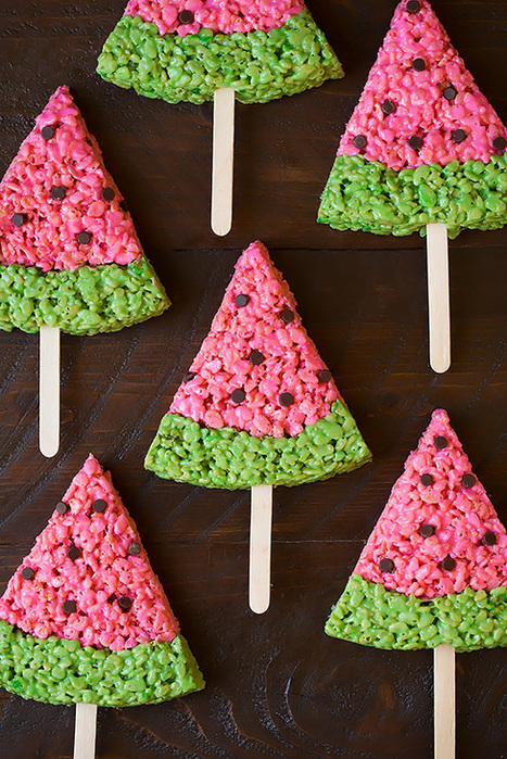 Watermelon Rice Krispie Treats | Passion for Cooking | Scoop.it