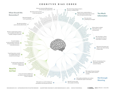 Cognitive Bias Codex designed by John Manoogian III | Master Leren & Innoveren | Scoop.it