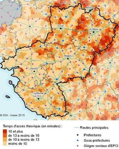 Insee > Service public : un accès globalement aisé sauf aux franges des départements | Observer les Pays de la Loire | Scoop.it