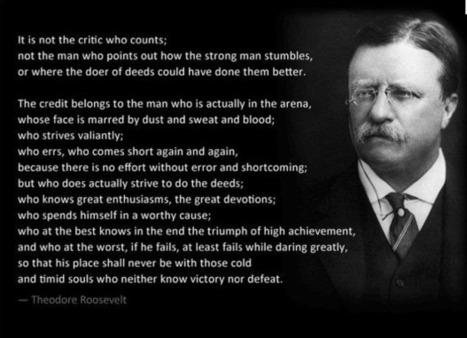 It's not the critic who counts... | Leadership Art and Science | Scoop.it