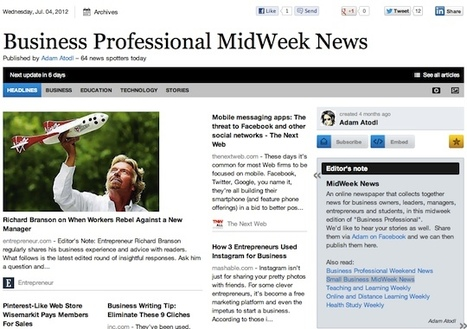 July 4 - Business Professional MidWeek News | Business Futures | Scoop.it