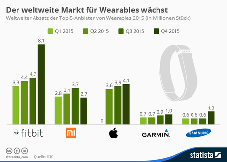 Infografik: Wearables Umsätze wachsen   Digital Marketing & E-Commerce   Scoop.it