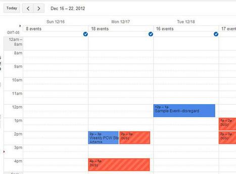 Los 10 mejores trucos para Google Calendar | Cicle inicial | Scoop.it