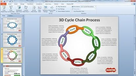 Free 3D Cycle Chain Process PowerPoint Template | Business | Scoop.it