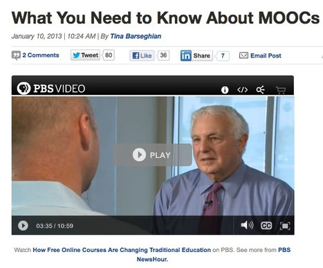 PBS NewsHour on MOOCs  [via MindShift] | faculty higher ed tech | Scoop.it