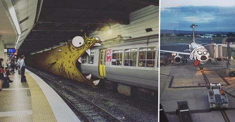 Cet artiste s'amuse à ajouter des monstres à des photos Instragram | Publicite | Scoop.it