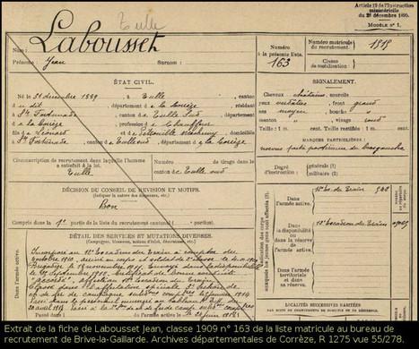 Où trouver des informations pour retracer le parcours d'un combattant ? La série R : la liste matricule | Rhit Genealogie | Scoop.it