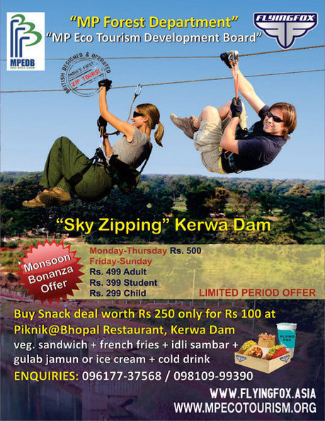 Kerwa Dam Bhopal - Longest zipline  of asia | Most Adventurous Aerial tour in India with Flying Fox | Scoop.it