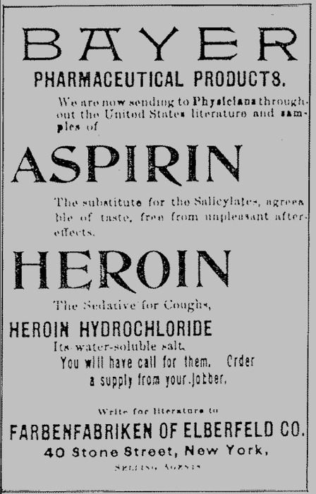 Bayer-Heroin-Ad. | riOt | Scoop.it