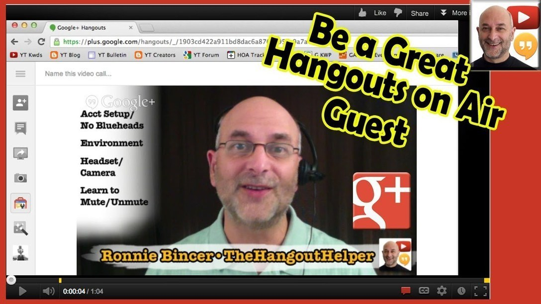 How to be a great HOA (Hangouts on Air) Guest - Executive Overview | Ronnie Bincer