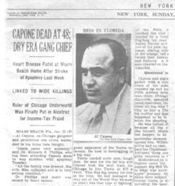 Conviction Of Al Capone: Newspaper Articles | american mafia 1920s | Scoop.it