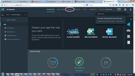 Create your first Internet of Things application in under 30 minutes with IBM Bluemix | Boite à outils pour les entreprises | Scoop.it
