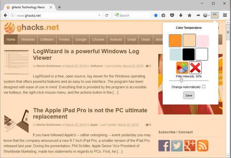Firelux brings f.lux functionality to Firefox - gHacks Tech News | Freewares | Scoop.it