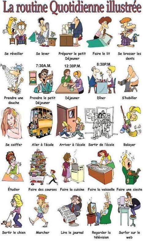 Un routine quotidienne illustrée | French | Scoop.it