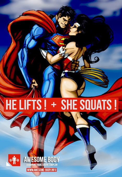He Lifts She Squats Superman Wonder Woman | Awesome Motivation Picture | Amazing fashions around the world | Scoop.it