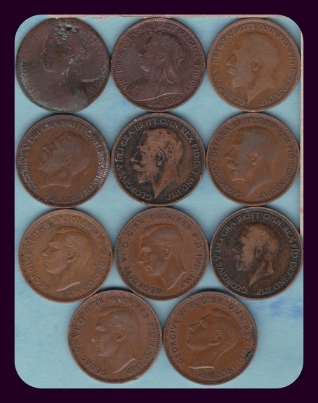 Great Britain Large Half Penny Collection, Rare Copper Coins | Antiques & Vintage Collectibles | Scoop.it