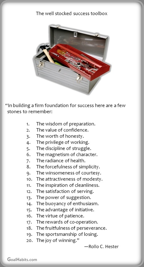 The well stocked success toolbox by Rollo C. Hester | Inspirations for Life | Scoop.it