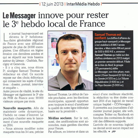 Le Messager innove pour rester le 3e hebdo local de France | DocPresseESJ | Scoop.it