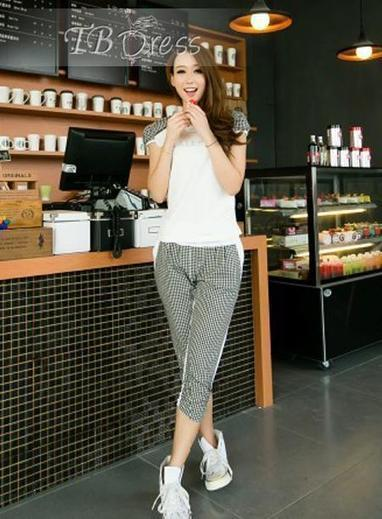 $ 20.59 Fabulous Korean Style Leisure T-shirt And Cropped Trousers Active Suit | beauty | Scoop.it