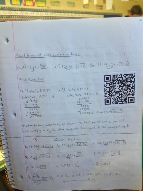 Using QR Codes to help students review for Math | Common Core | Scoop.it
