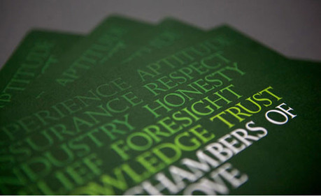 The Chambers of Mark Love Brochure | Freestyle Print | A Passion For Print | Scoop.it