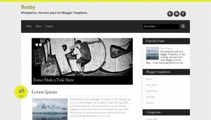 Busby Blogger template - BTemplates | The best blogger templates | Scoop.it