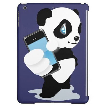 Panda holding a smartphone | Unique and Customizable Gifts | Scoop.it