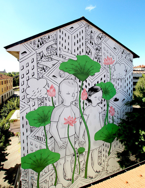 New Affectionate #Murals #Painted on the #Streets of #Italy and Beyond by #Millo. #art #streetart | Luby Art | Scoop.it