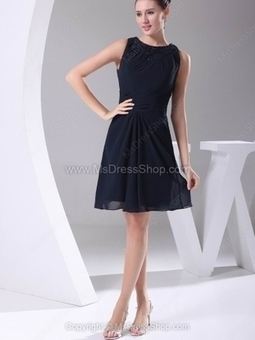 A-line Scoop Chiffon Short/Mini Beading Homecoming Dresses | Cocktail dresses online | Scoop.it